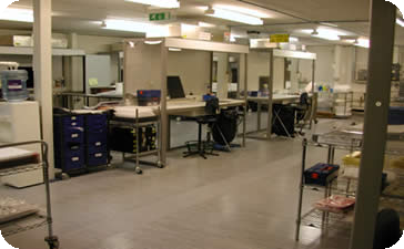 Recently refurbished and enlarged Clean Rooms offer increased capacity